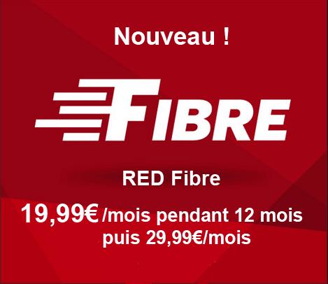 RED Fibre pour 19,99€ par mois pendant 1 an