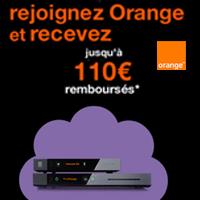 Orange vous offre jusqu'à 110€ pour toute souscription à une offre internet