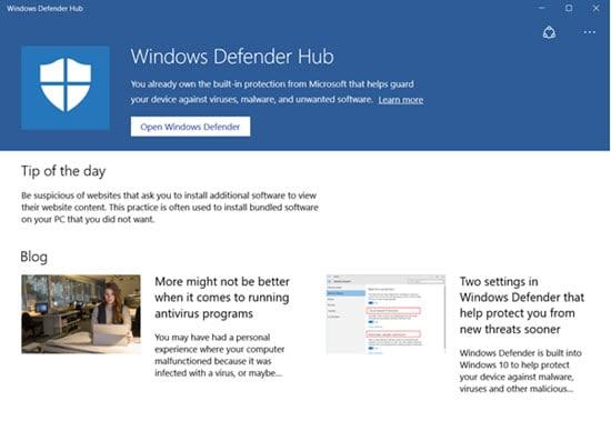 Windows Defender Hub débarque, relançant les tensions avec Kaspersky