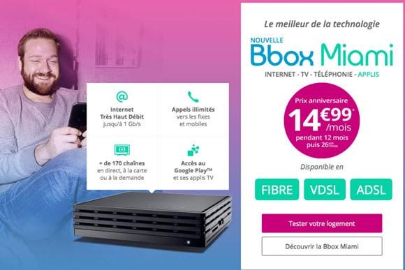 Bon plan : La Bbox Miami en promo à 14.99€ jusqu'au 22 janvier