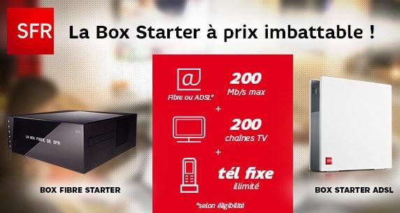 La Box Très Haut Débit Starter à 19.99 euros par mois chez SFR