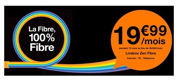 Orange : La Livebox Zen Fibre à partir de 19.99 euros par mois