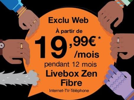 Orange prolonge les promos sur ses offres Livebox Fibre à partir de 19.99 euros