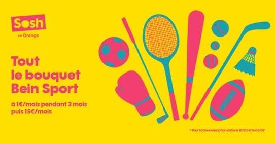 Promos SOSH ! BeIN Sport à 1 euro et 15 euros de remise sur votre abonnement avec le code BOXSOSH