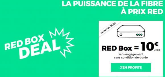 RED by SFR : La Fibre à prix RED jusqu'au 26 juin (10 euros par mois à VIE)