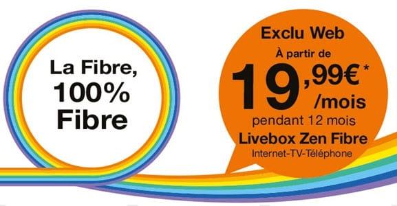 Orange : les offres Internet Fibre en promo à partir 19.99 euros par mois