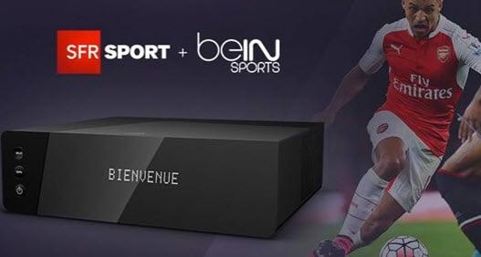 Toutes les compétitions Européennes de Foot pour vous avec SFR Sports et beIN Sports via la BOX Power SFR