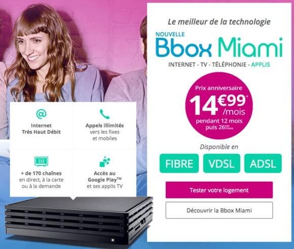 La Bbox Miami toujours en promotion chez Bouygues Telecom