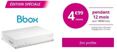 Plus que quelques jours pour profiter de la Bbox à 4.99 euros chez Bouygues Telecom !