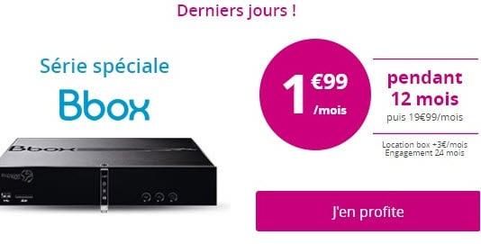 Nouvelle prolongation : La Bbox de Bouygues Telecom à 1.99 euros par mois seulement !