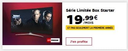 SFR (Altice) : la Série limitée BOX Starter Fibre ou ADSL au prix fixe de 19.99€ par mois