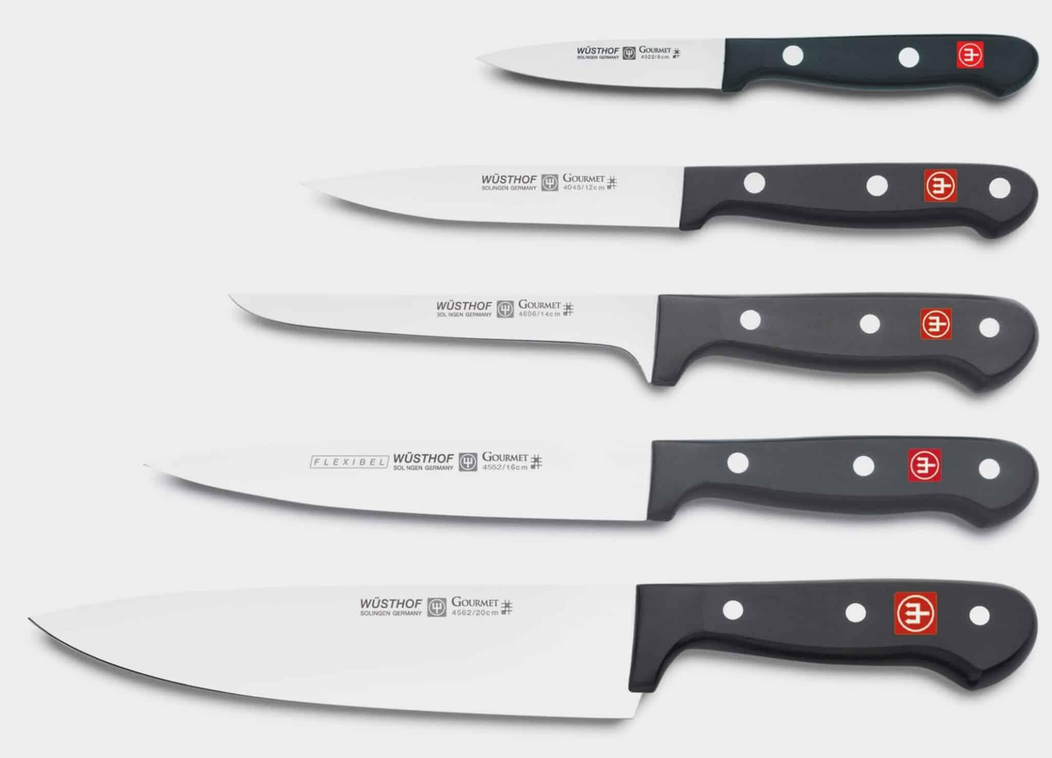 Les différents couteaux de chef