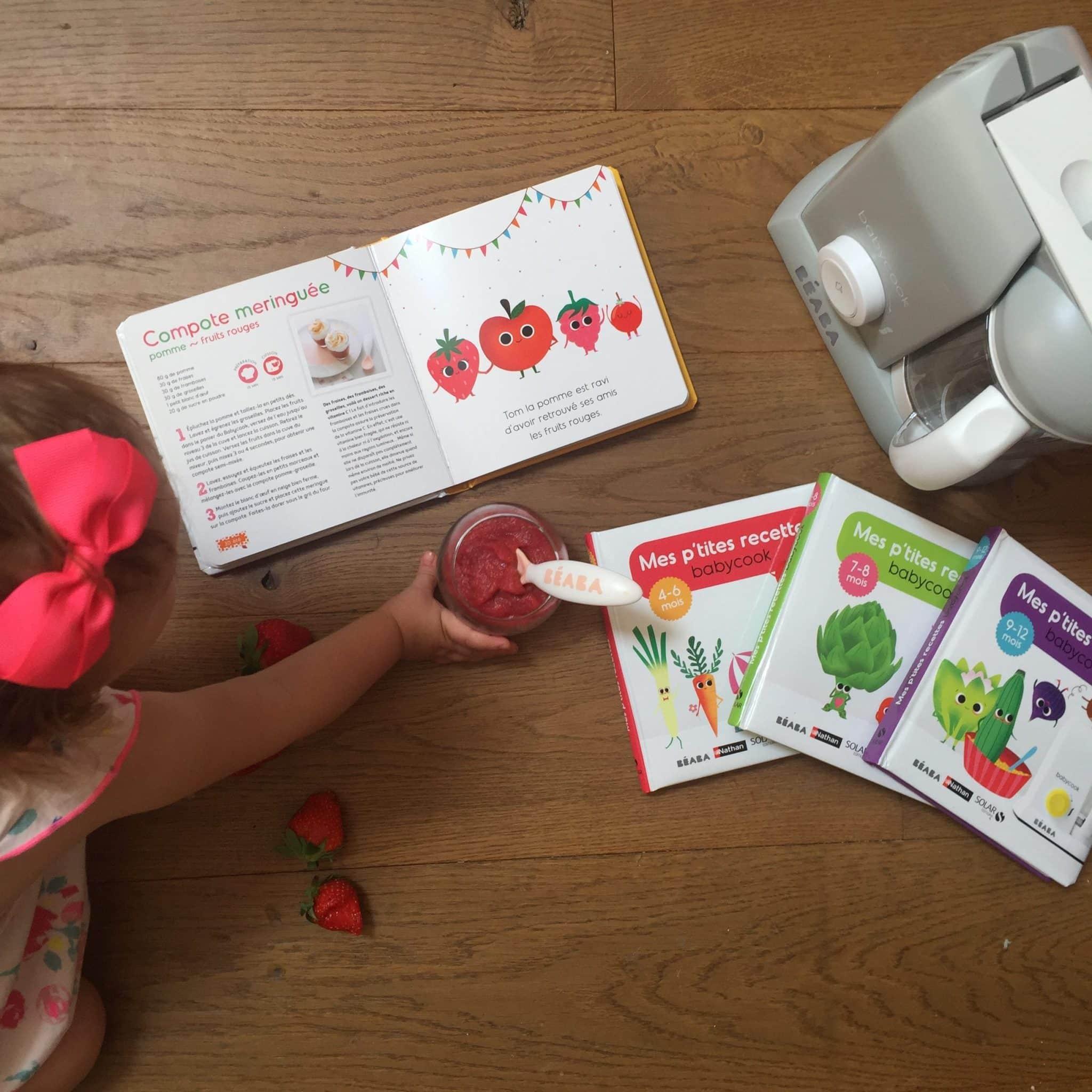 Livre de recettes avec le Babycook