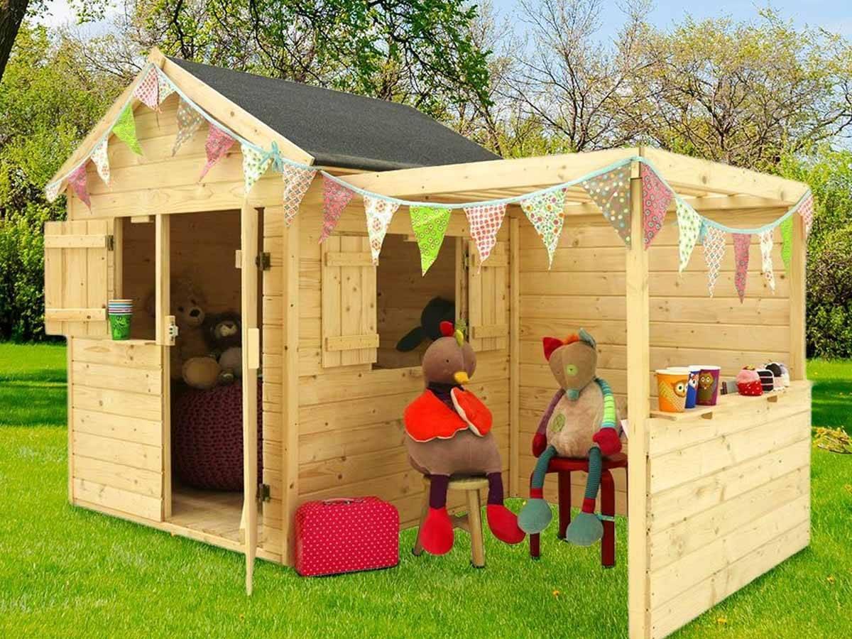 La cabane pour enfant en bois