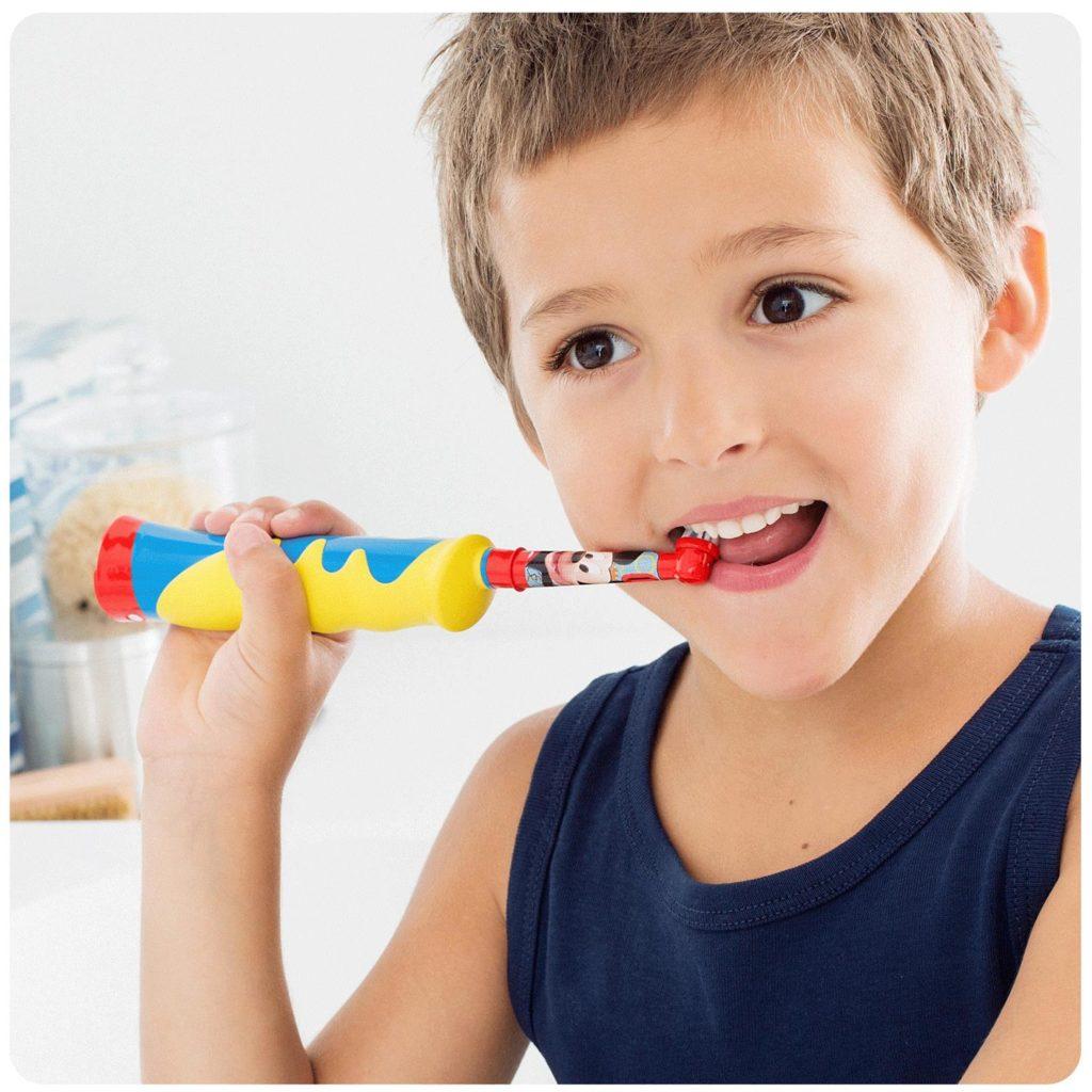 La brosse à dents électrique