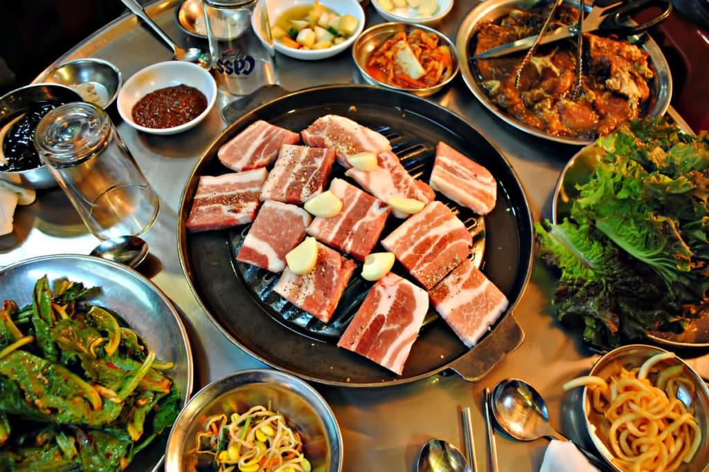 Le barbecue coréen