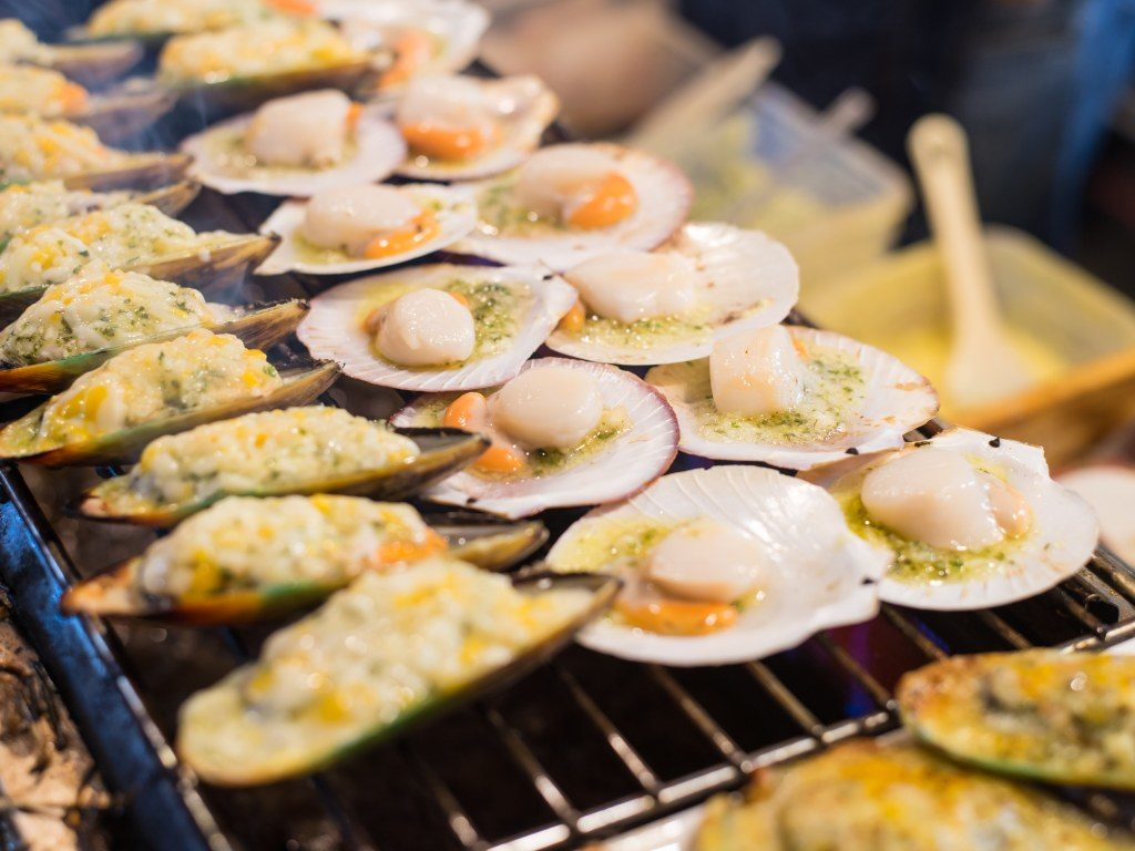 Coquillages au barbecue