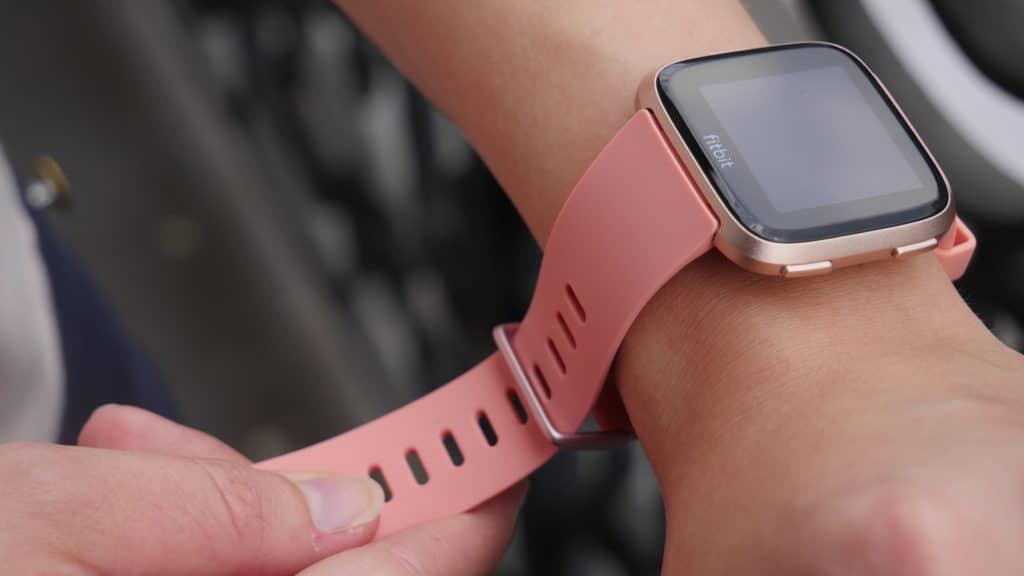 Zoom sur la montre Fitbit