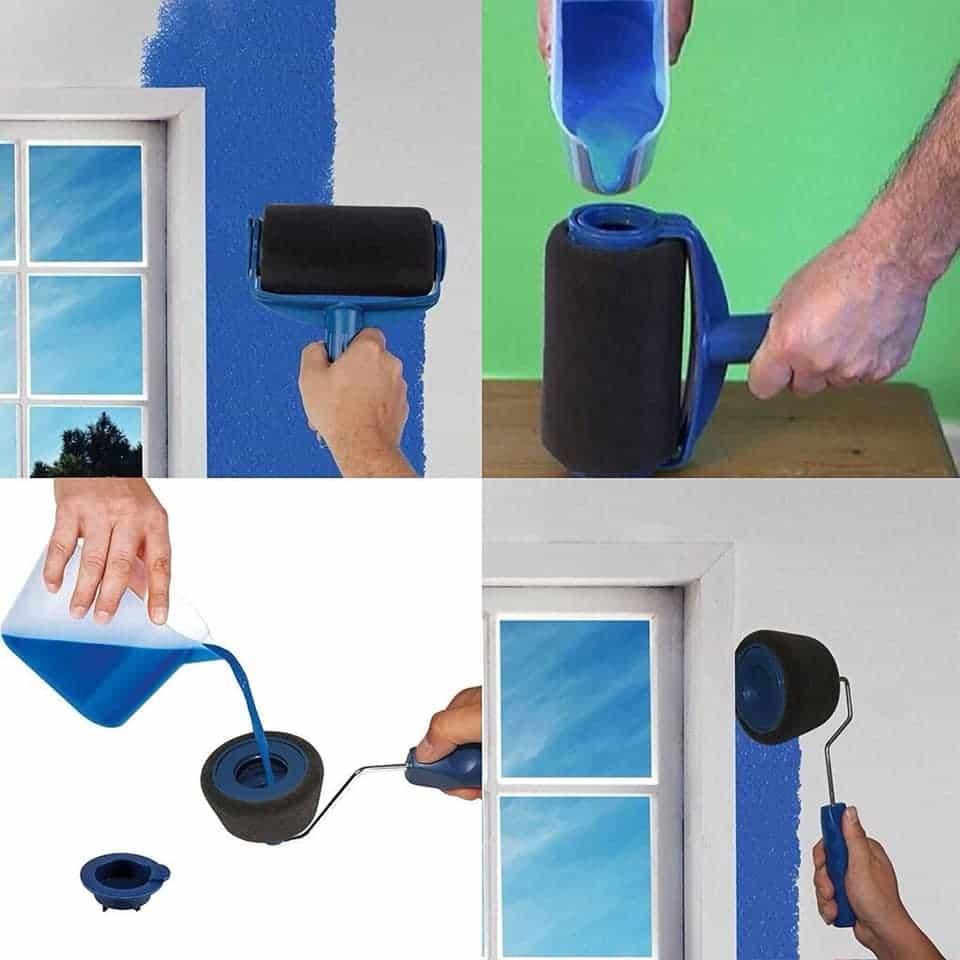 Le rouleau de peinture avec réservoir