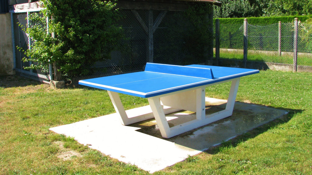 La table de ping pong