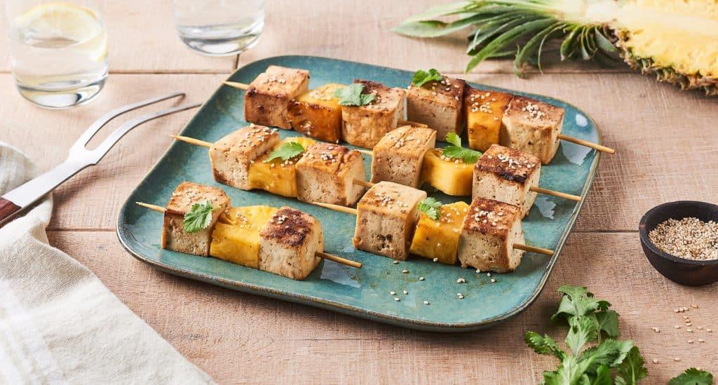 Brochettes de tofu sucré et salé