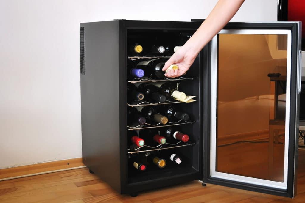Zoom sur la cave à vin