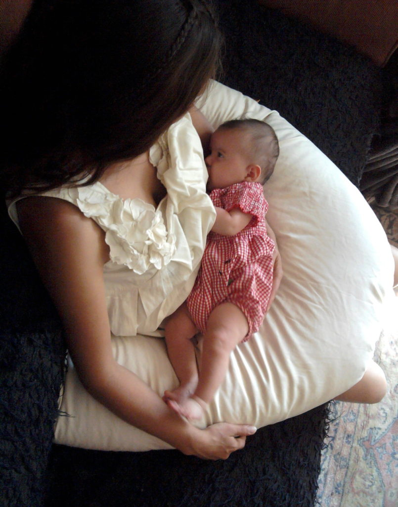Zoom sur le coussin d'allaitement