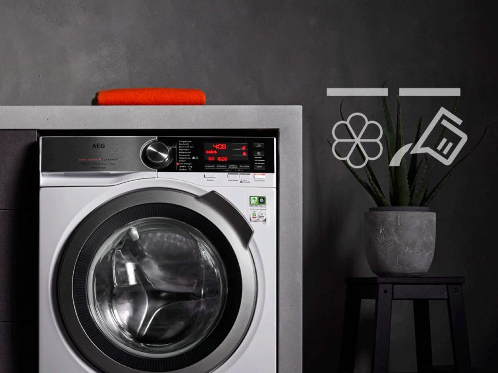 Zoom sur le lave-linge AEG