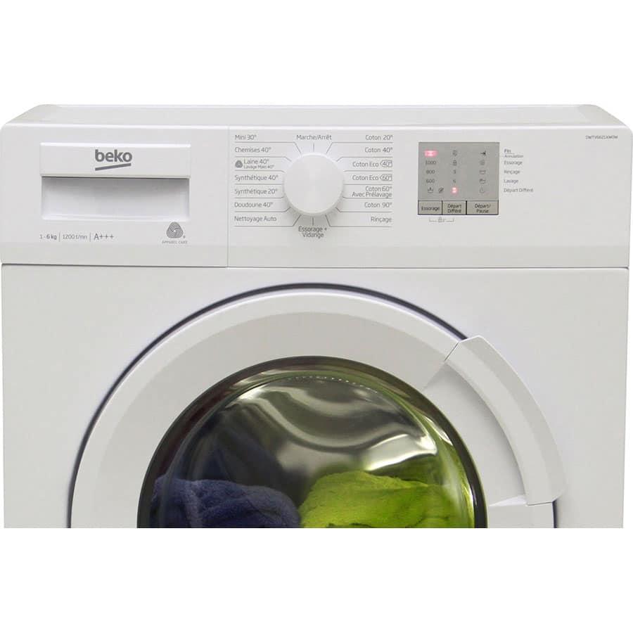 Zoom sur le lave-linge BEKO
