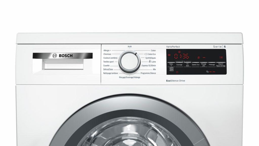 Zoom sur le lave-linge BOSCH