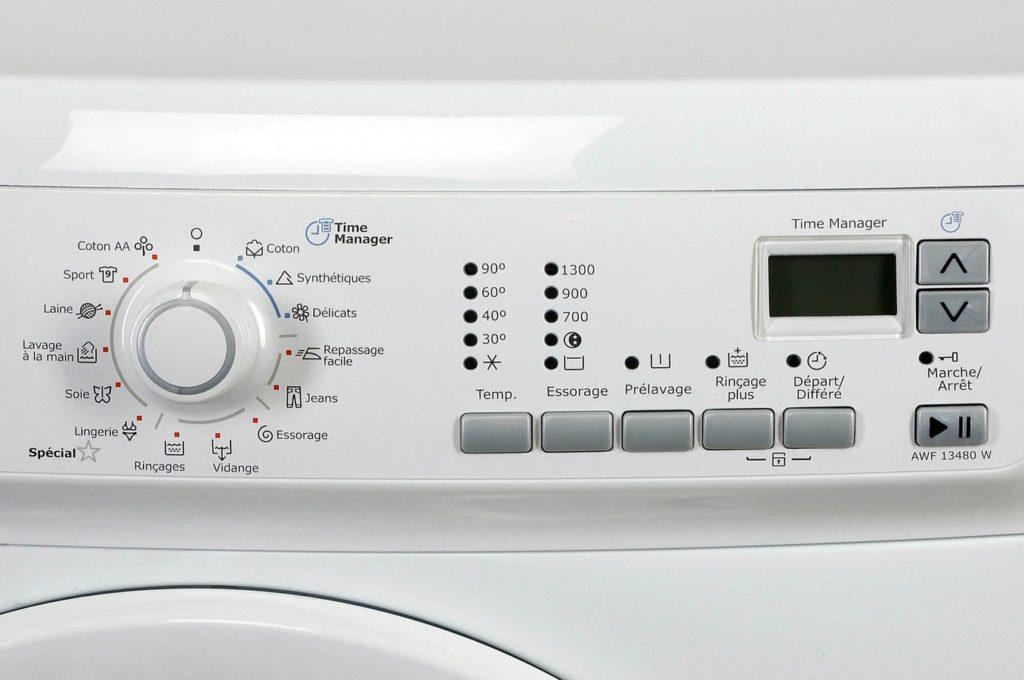 Zoom sur le lave-linge Electrolux