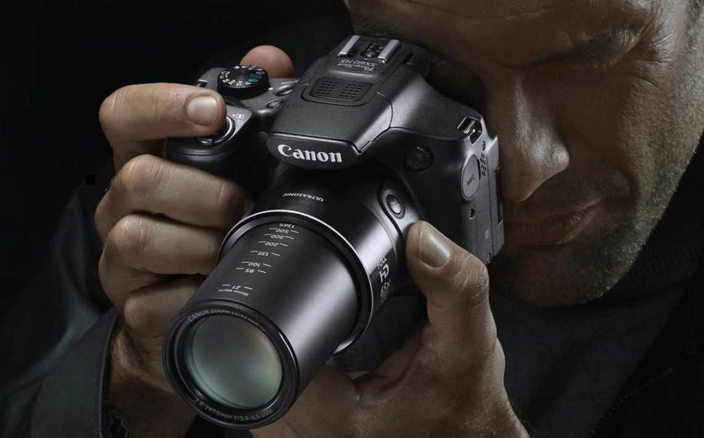 Zoom sur l'appareil photo bridge
