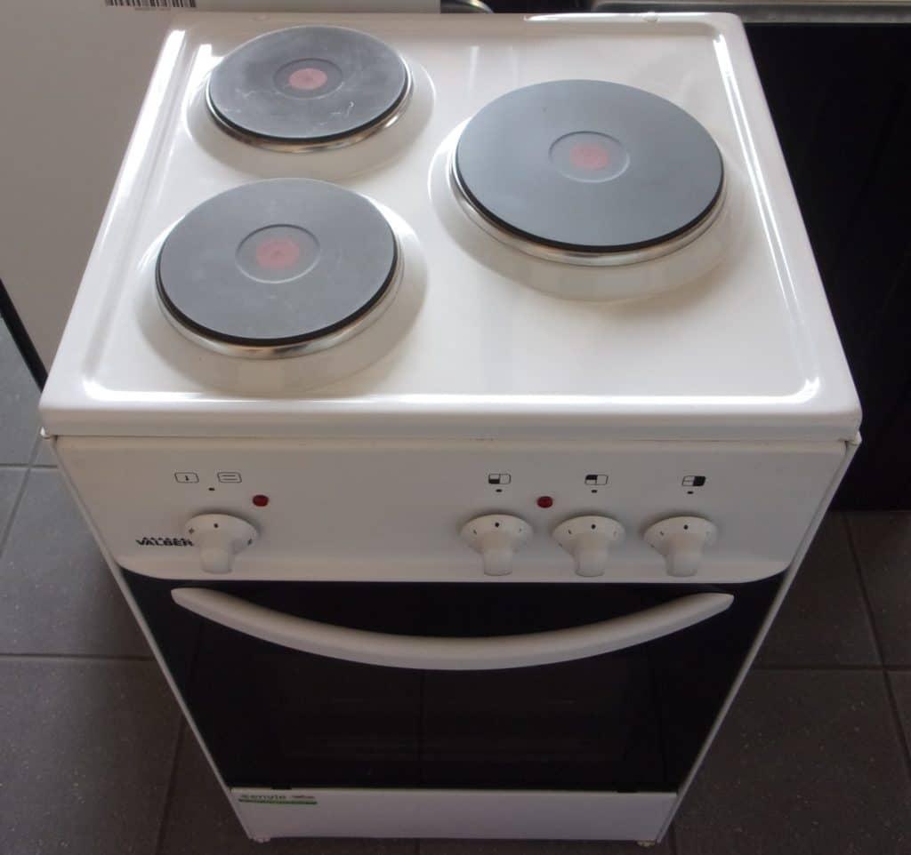 Zoom sur la cuisinière électrique