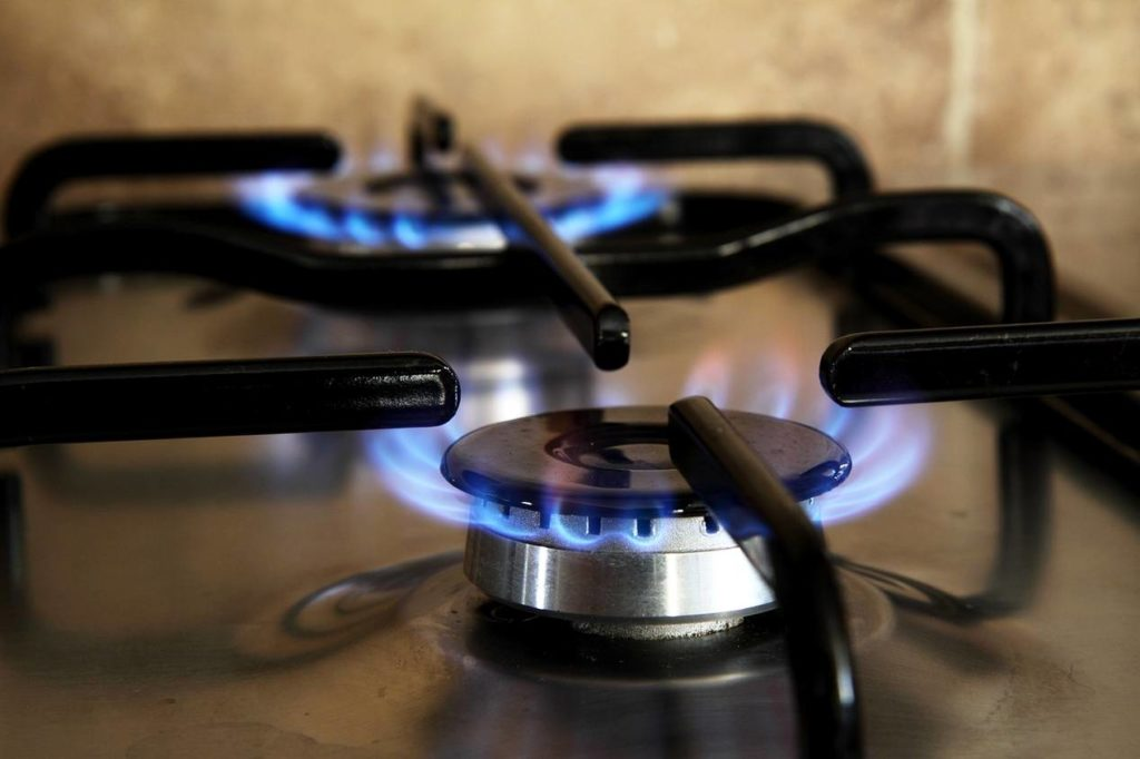 Zoom sur la cuisinière à gaz