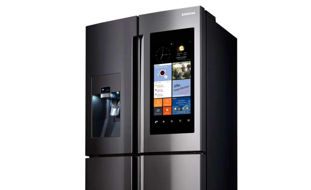 Zoom sur le frigo américain Samsung
