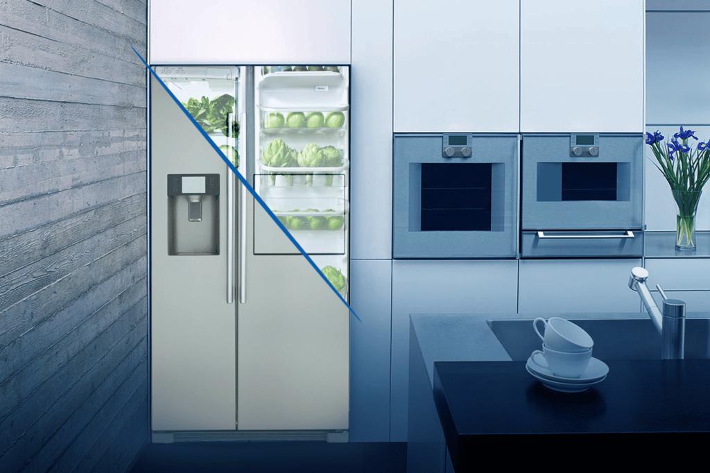 Zoom sur le réfrigérateur Haier