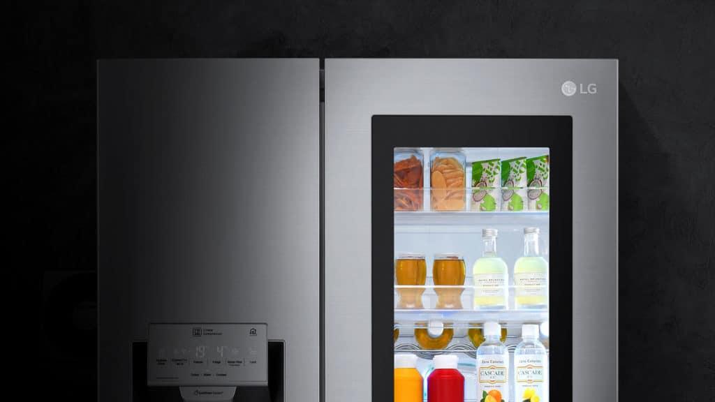 Zoom sur le réfrigérateur LG