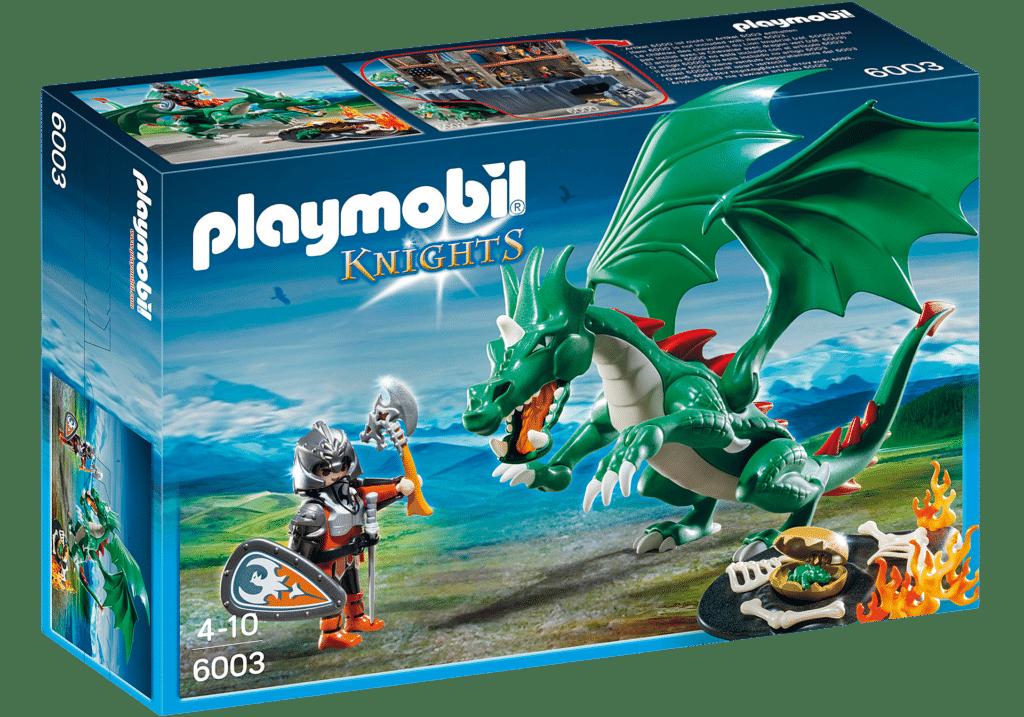 PLAYMOBIL 6003 Chevalier Grand Dragon Vert