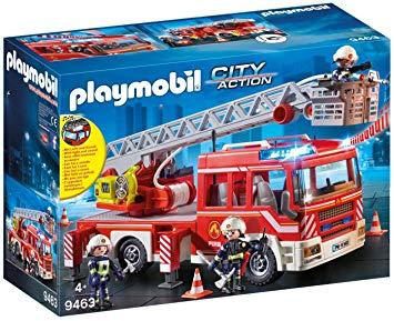 camion de pompiers avec echelle pivotante 9463