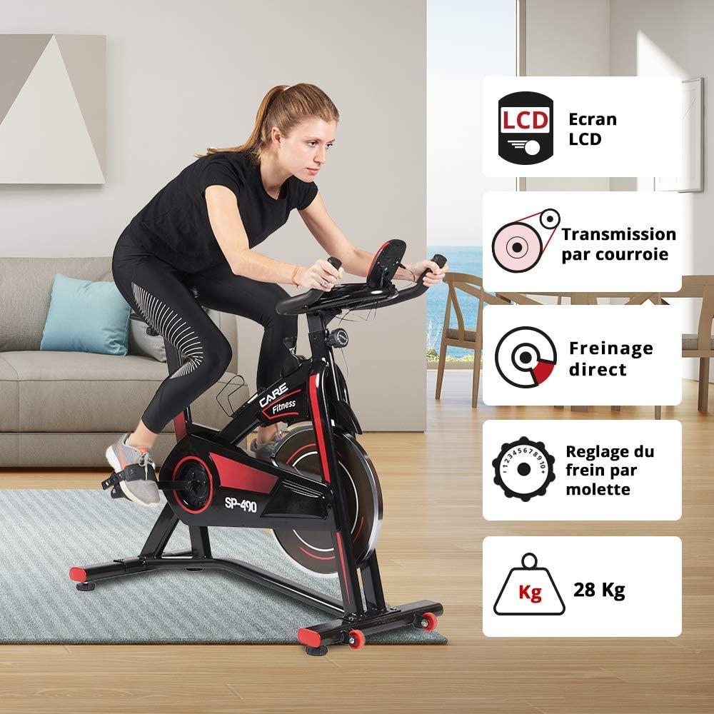 CARE FITNESS - Vélo Droit d'Intérieur Spibike SP-490